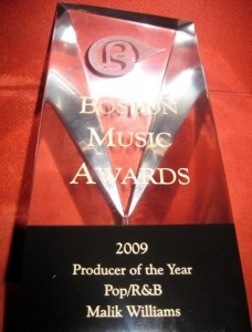 BMA Producer of the Year Pop/R&B, 2009